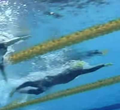 オリンピック等のトップ選手の泳ぎを観察してみる